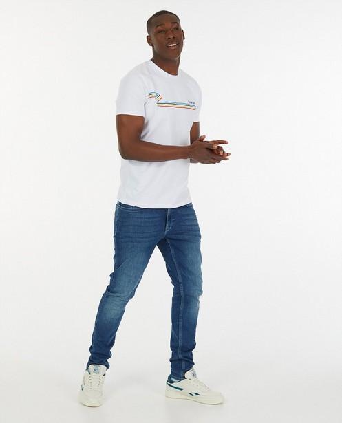 Wit 'Gelijk nen Echte'-T-shirt, heren - Kom op tegen Kanker - Kom op tegen Kanker