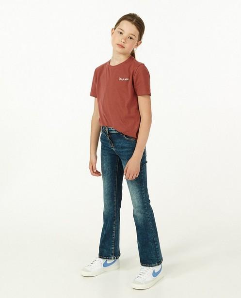Jeans bootcut bleu Cezanne, 7-14 - à taille ajustable - Fish & Chips