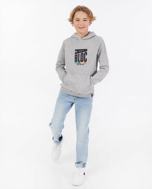 Hoodie «Gelijk nen Echte», 7-14 ans - Kom op tegen Kanker - Kom op tegen Kanker