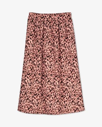 Jupe rose à imprimé léopard Sora