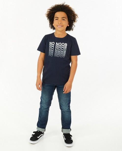 T-shirt bleu à imprimé BESTies - avec du stretch - Besties