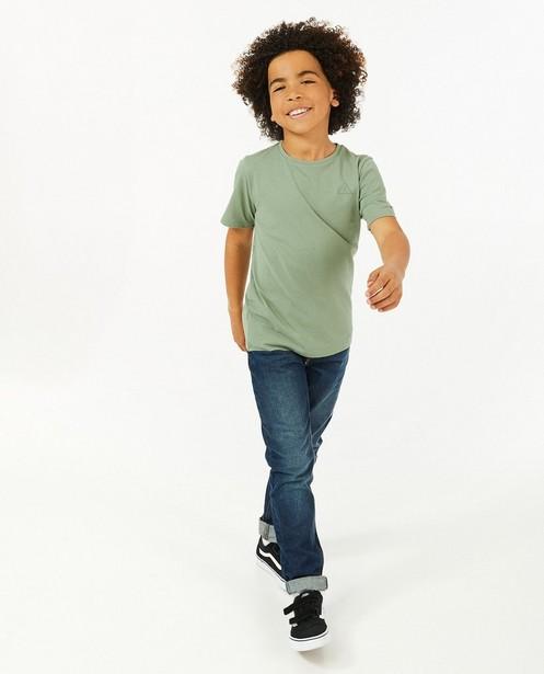 Groen T-shirt met print BESTies - stretch - Besties
