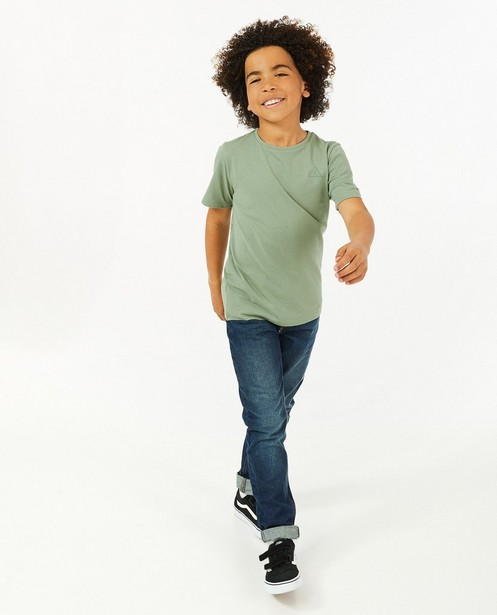 T-shirt vert à imprimé BESTies - avec du stretch - Besties