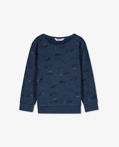 Blauwe sweater met print BESTies