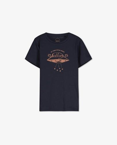 T-shirt bleu à imprimé BESTies