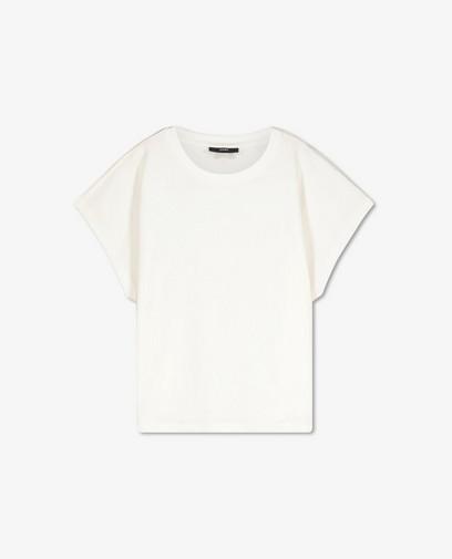 Biokatoenen T-shirt in wit