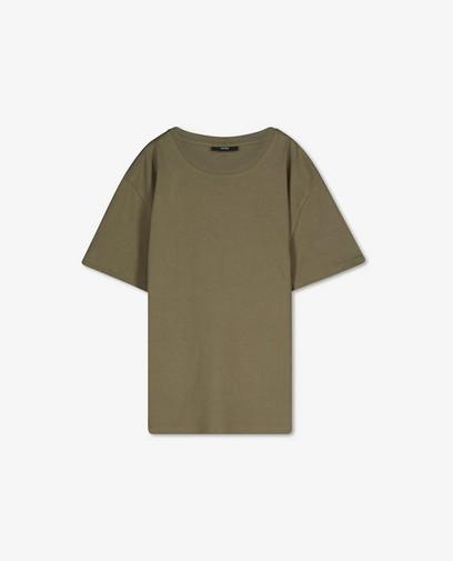 T-shirt kaki en coton bio Sora