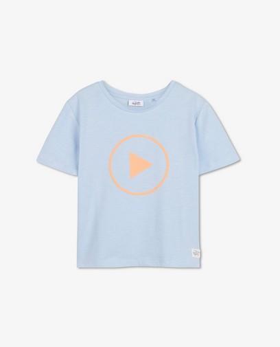 Blauw 'play' T-shirt Dylan Haegens
