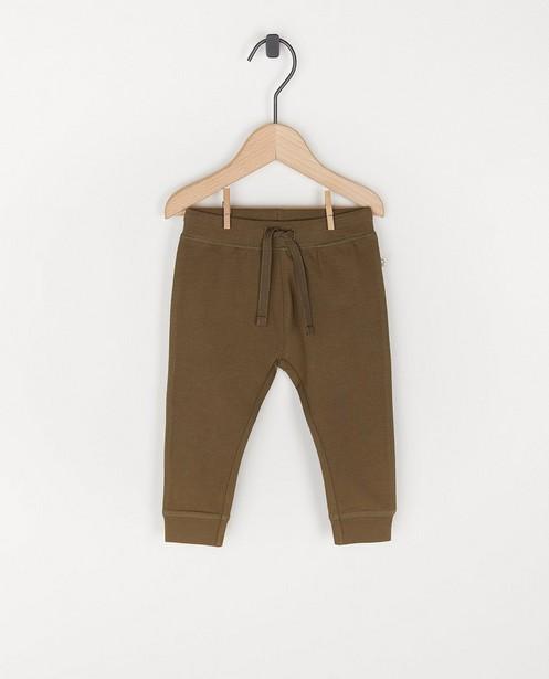 Pantalon molletonné en coton bio - unisexe - avec du stretch - Cuddles and Smiles