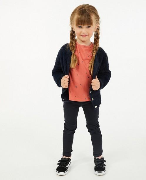 Cardigan bleu foncé - fin tricot - Besties
