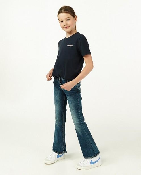 Donkerblauw T-shirt met glitter BESTies - opschrift - Besties