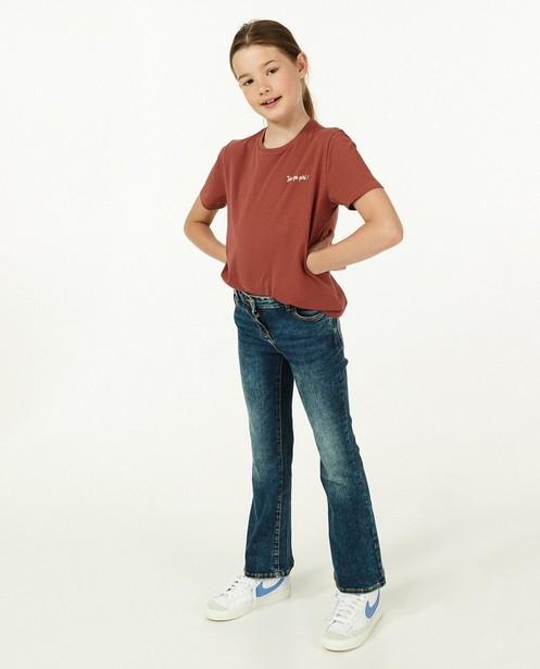 Rood T-shirt met glitter BESTies - opschrift - Besties