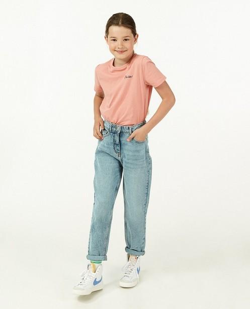 Roze T-shirt met glitter BESTies - opschrift - Besties