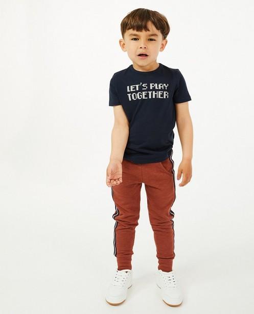 T-shirt en coton bio à imprimé - bleu foncé - Kidz Nation