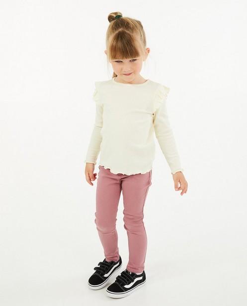 T-shirt à manches longues à côtes verticales - et volants - Milla Star
