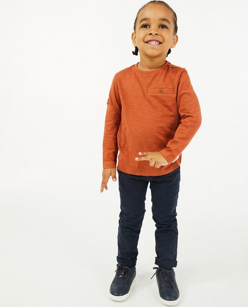 T-shirt à manches longues en coton bio, 2-7 ans - avec du stretch - Kidz Nation