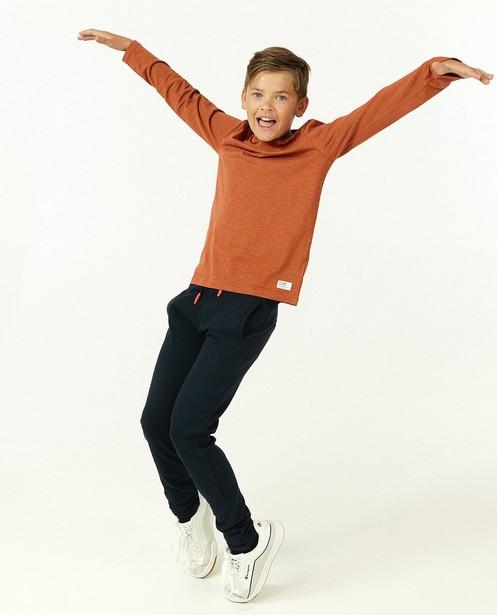 T-shirt à manches longues en coton bio, 7-14 ans - avec une petite poche de poitrine - Fish & Chips