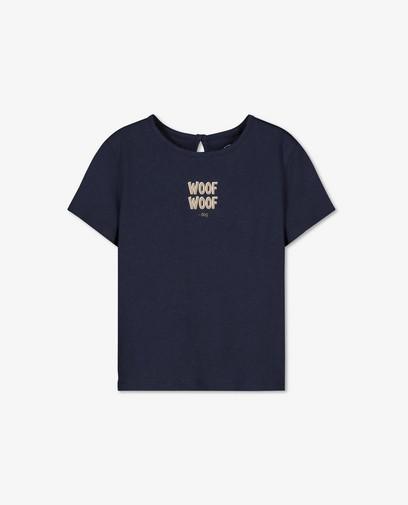 T-shirt bleu à inscription BESTies