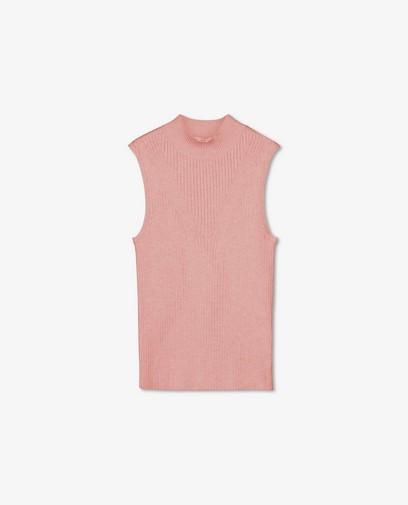 Gebreide top in roze Sora