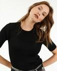 Pulls - T-shirt noir en tricot Sora