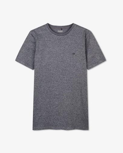 Katoenen T-shirt in donkerblauw