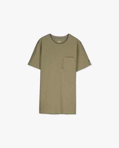 Biokatoenen T-shirt met borduursel
