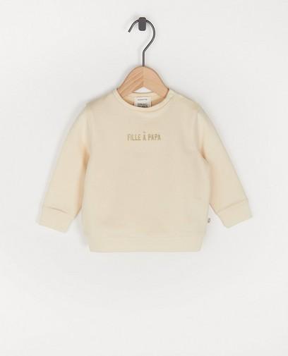 Biokatoenen sweater met opschrift (FR)