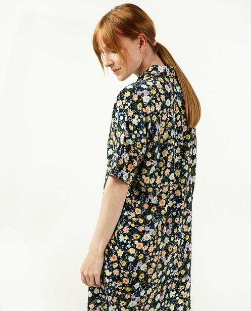 Robe noire à imprimé fleuri Sora - à manches courtes - Sora