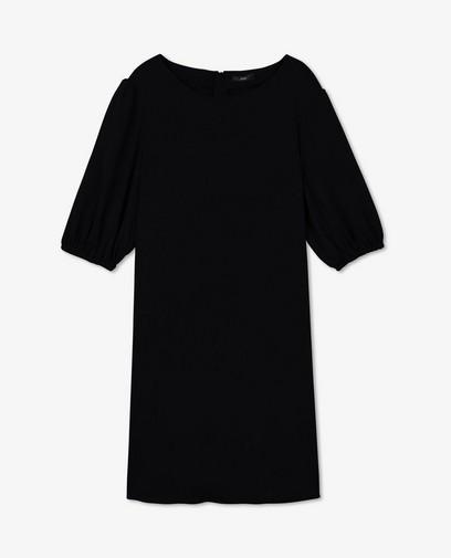 Zwarte jurk met pofmouwen Sora