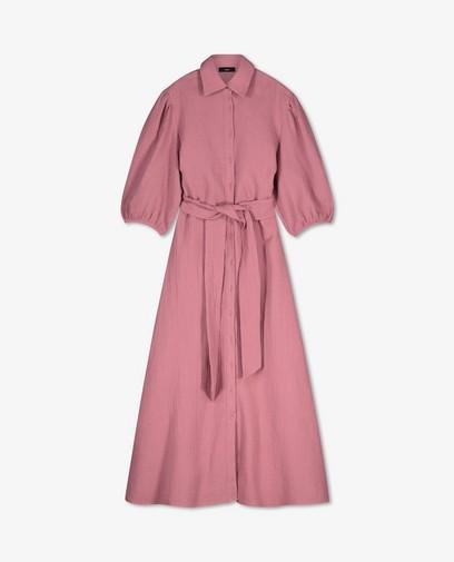 Roze maxi-jurk van tetrastof Sora
