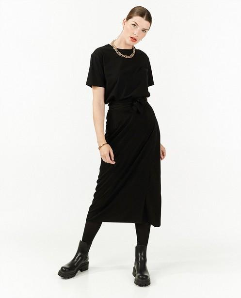Jupe portefeuille noire Sora - en viscose mélangée - Sora
