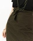 Jupes - Jupe portefeuille à carreaux noirs et verts Sora