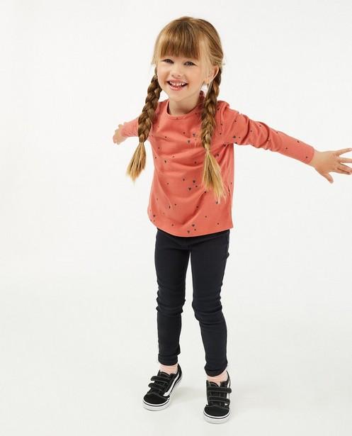 T-shirt à manches longues en coton bio avec des petits cœurs - ornés de paillettes - Milla Star