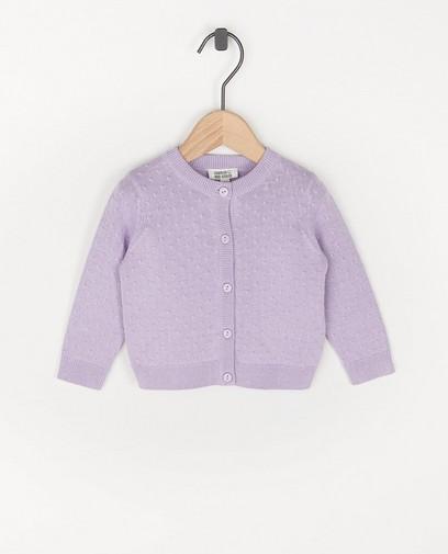 Cardigan en coton bio lilas