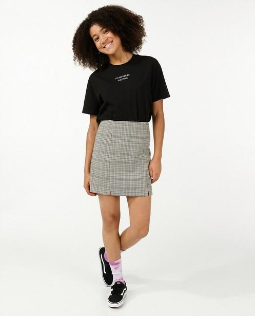 T-shirt en coton bio à inscription - noir - Groggy