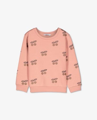 Biokatoenen sweater met print