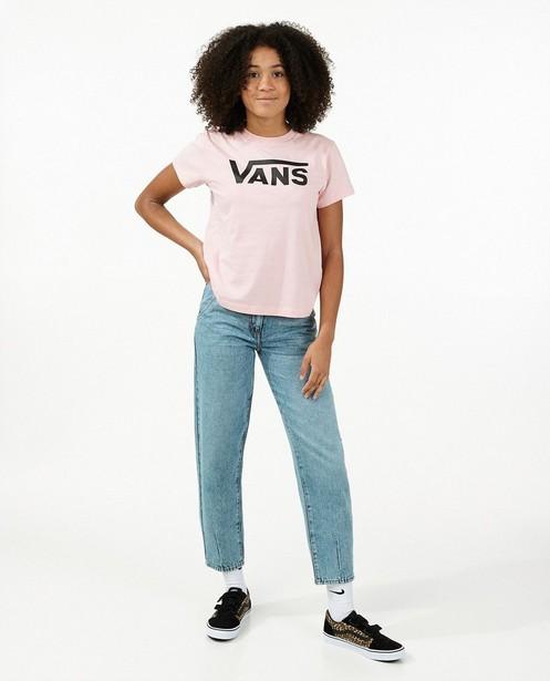 T-shirt rose à logo Vans - avec du stretch - Vans