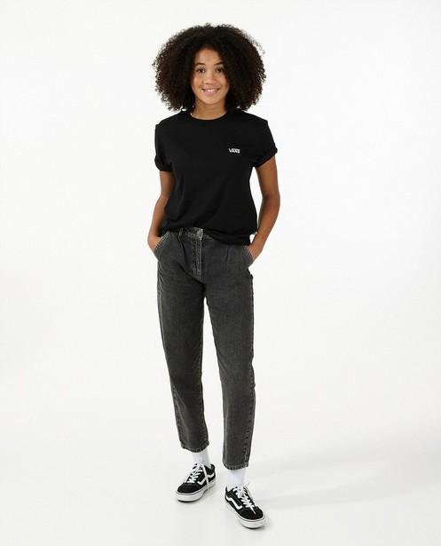T-shirt noir à broderie blanche Vans - avec du stretch - Vans