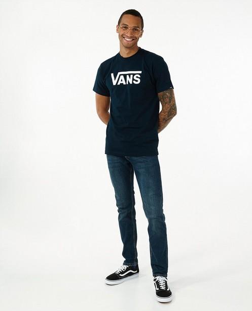 Donkerblauw T-shirt met logo Vans - stretch - Vans