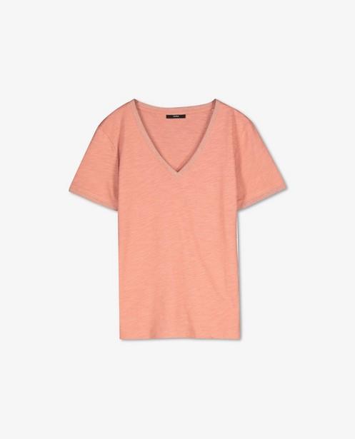 Katoenen T-shirt met metaaldraad Sora - met V-hals - Sora