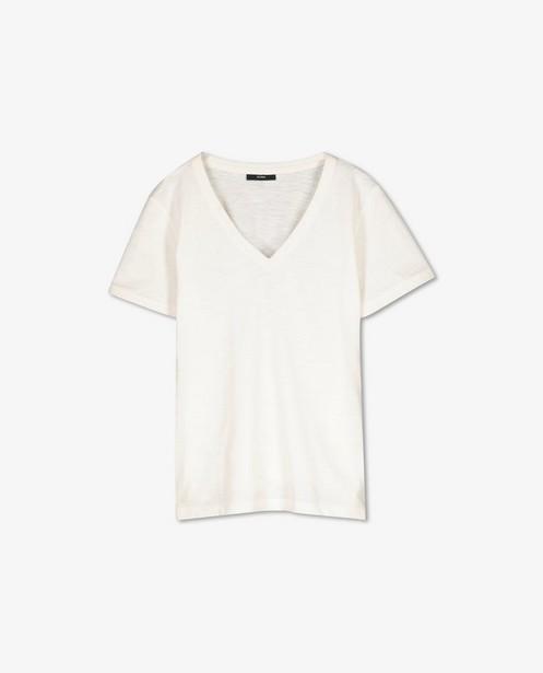 T-shirt en coton avec fil métallisé Sora - col en V - Sora