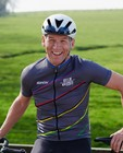 Maillot cycliste gris pour hommes Santini - Kom op tegen Kanker - Kom op tegen Kanker