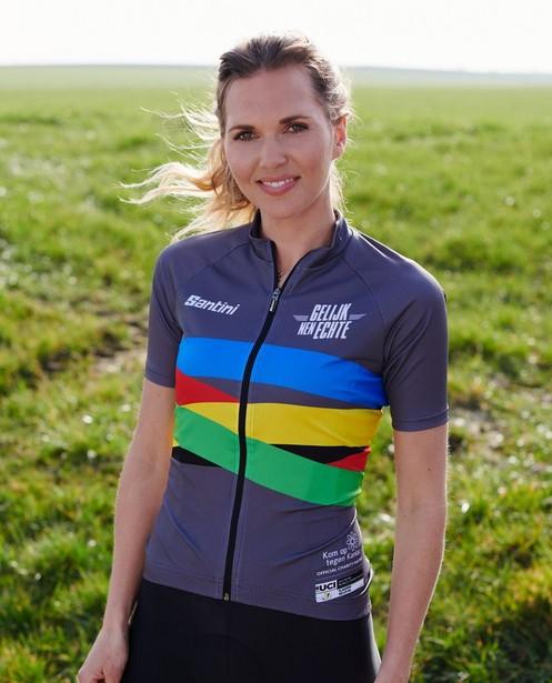 Maillot cycliste gris pour femmes Santini - Kom op tegen Kanker - Kom op tegen Kanker