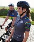 Grijs wielershirt voor dames Santini - Kom op tegen Kanker - Kom op tegen Kanker