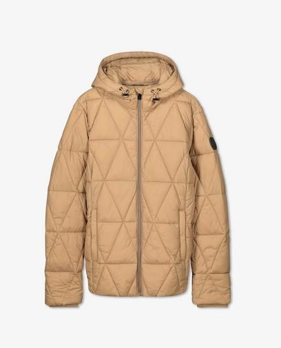 100% gerecycleerde jas in beige Sora