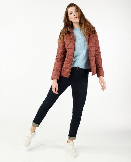 Veste rouge brun 100% recyclée Sora - imperméable - Sora