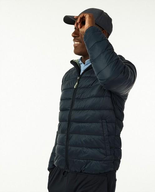 Veste bleu foncé 100% recyclée - en faux duvet - Quarterback