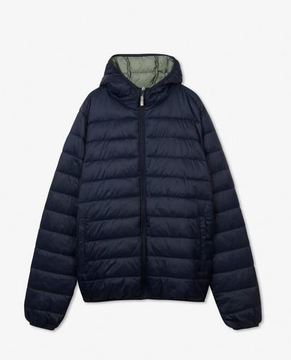 100% gerecycleerde jas in donkerblauw