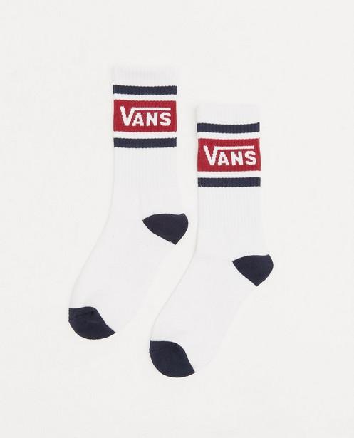 Chaussettes blanches Vans, pointure 31,5-39 - avec rayures et logo - Vans