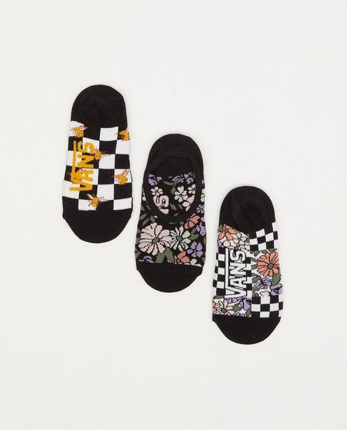 Set van 3 paar sneakerkousen Vans - met print - Vans